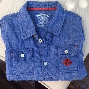 Epic Threads Boys Blue Button down shirt size 7